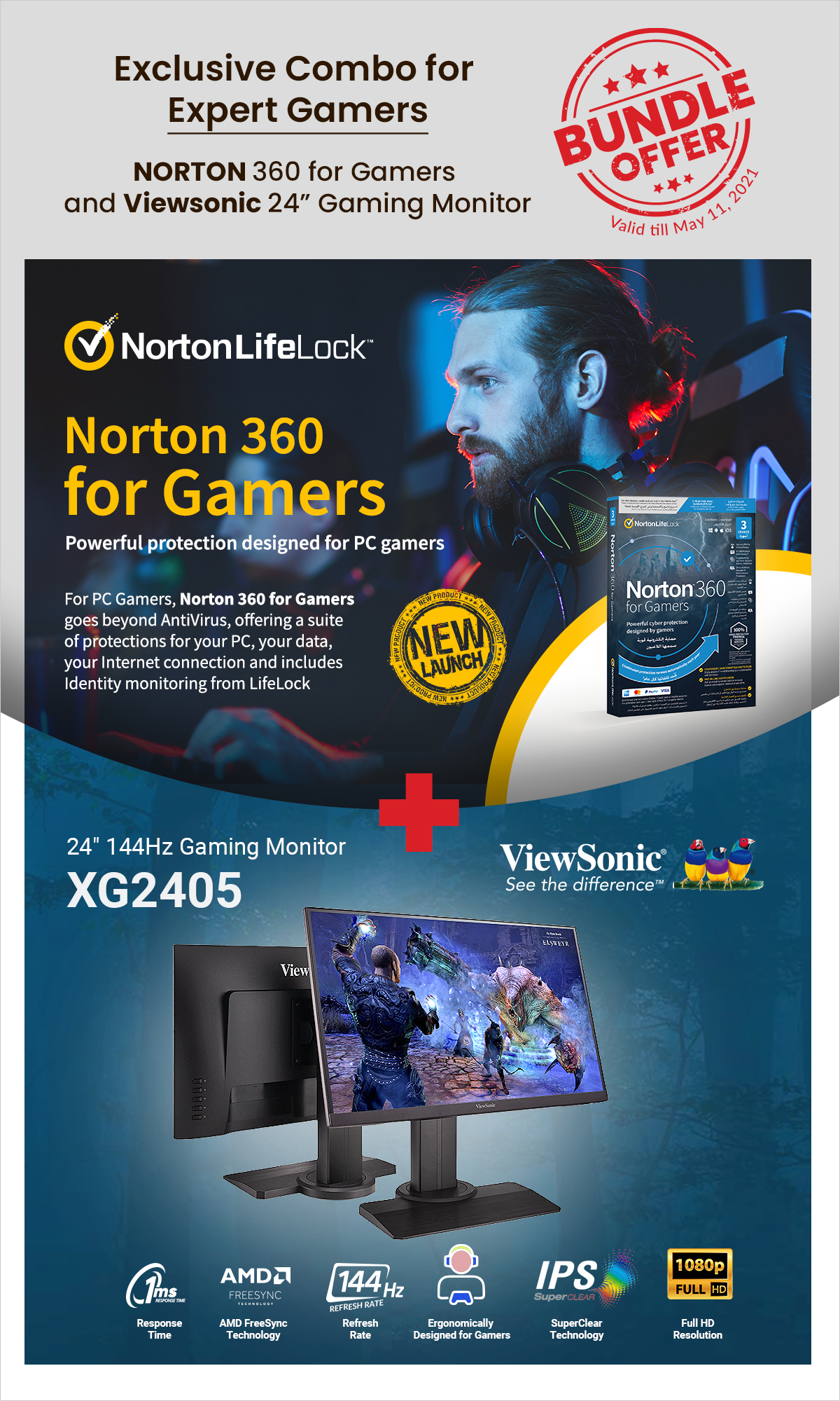 Exclusive Combo for Expert Gamers - Norton + ViewSonic