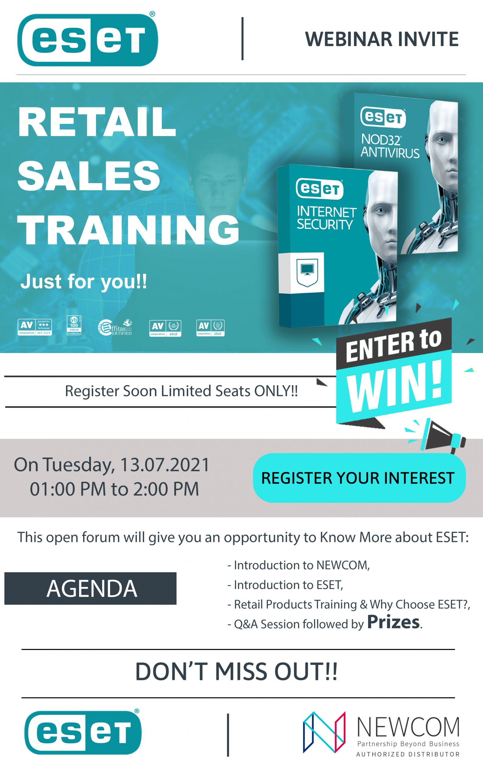 ESET® Retail Sales Training Hosted by NEWCOM