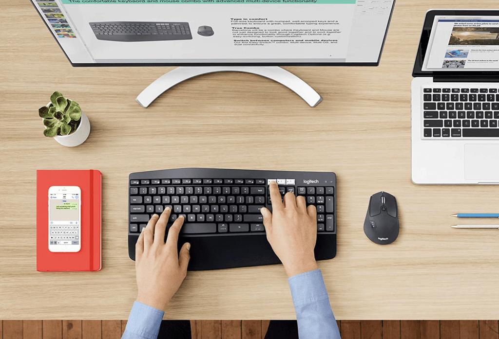 wireless Logitech keyboard